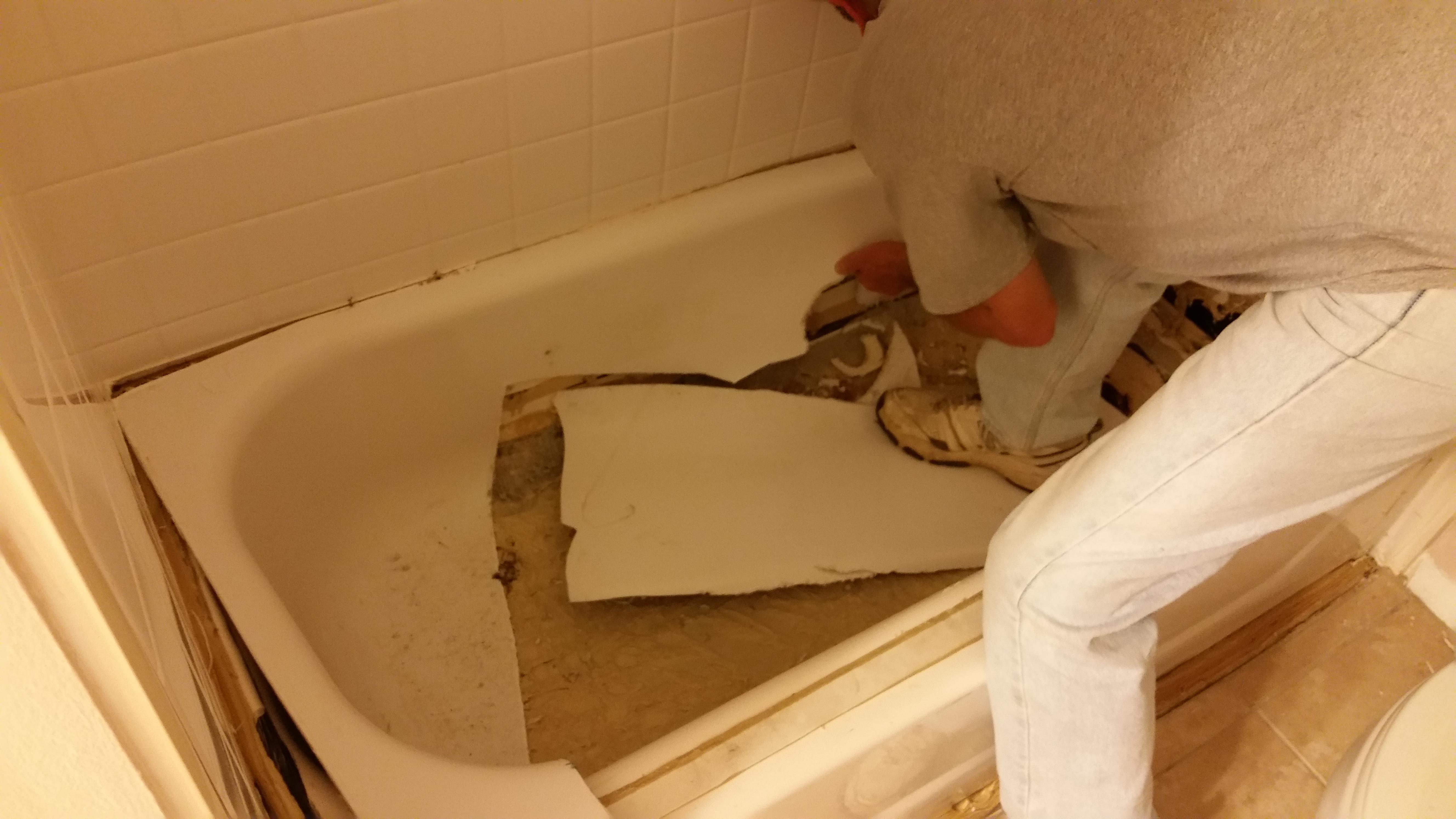 Chapel Hill Nc Porcelain Tub And Tile Bath Fitter Job